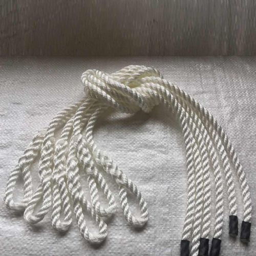 8mm White Lanyard